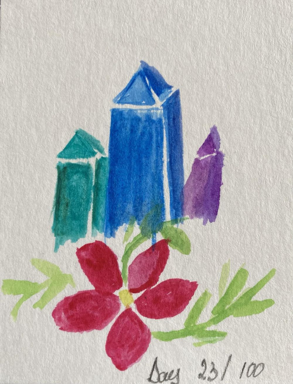 100 Day Watercolor Challenge - image 23 - student project