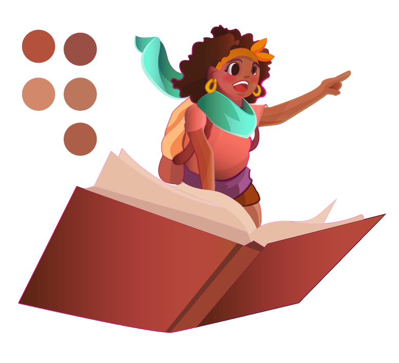 Caribbean Literature Space themed illustration - image 2 - student project