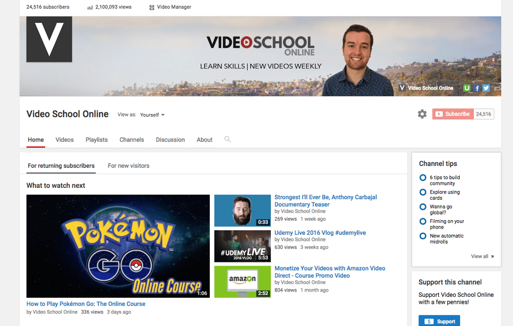 SAMPLE PROJECT - YouTube Channel Art - image 1 - student project