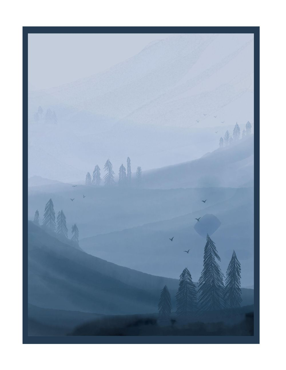Digital Watercolor Forest - Playing with Adobe Fresco - image 1 - student project