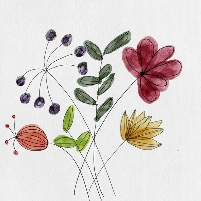 How to paint watercolor florals - image 1 - student project