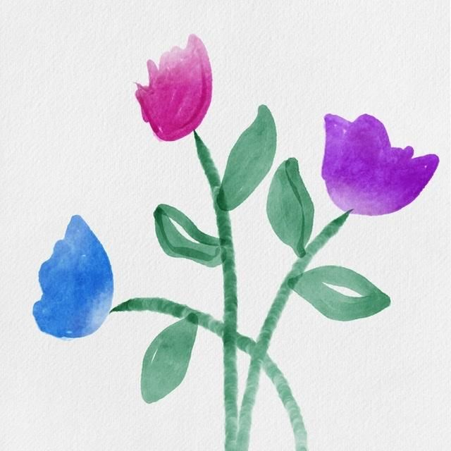 How to paint watercolor florals - image 4 - student project