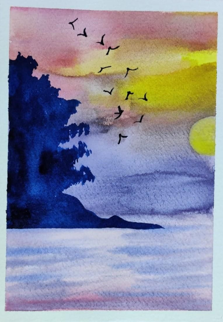 4 Watercolor Landscape by Megha - image 3 - student project