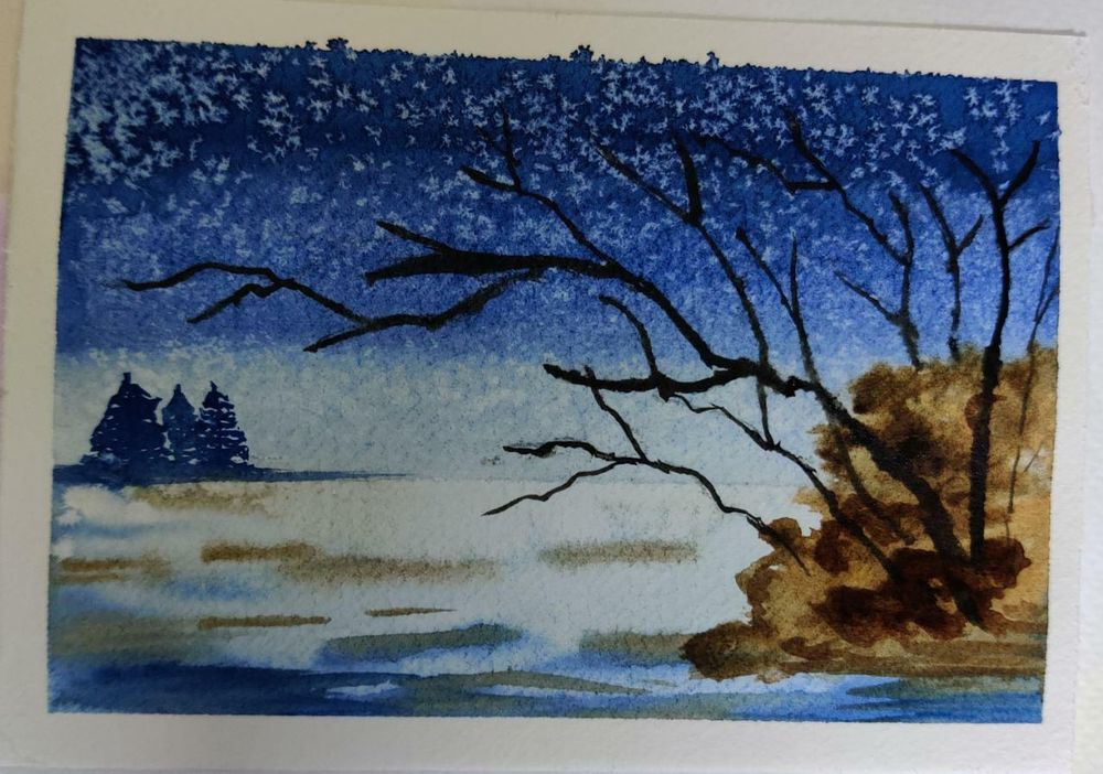 4 Watercolor Landscape by Megha - image 4 - student project