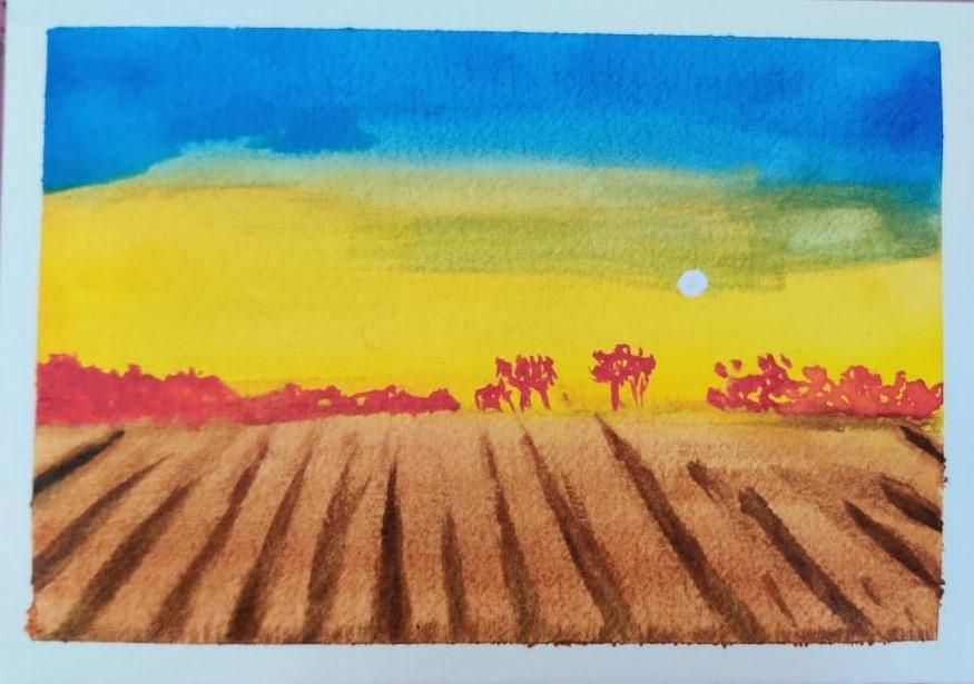 4 Watercolor Landscape by Megha - image 1 - student project
