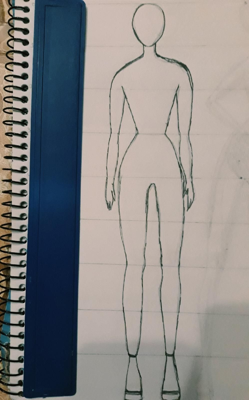 First ever attempt on figure drawing - image 1 - student project