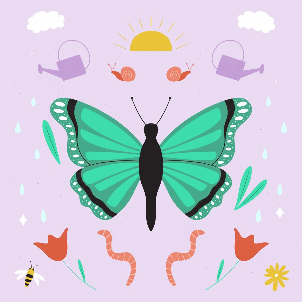 Botanical Butterfly - image 5 - student project