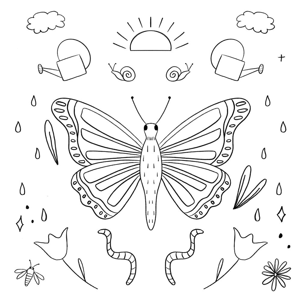 Botanical Butterfly - image 2 - student project