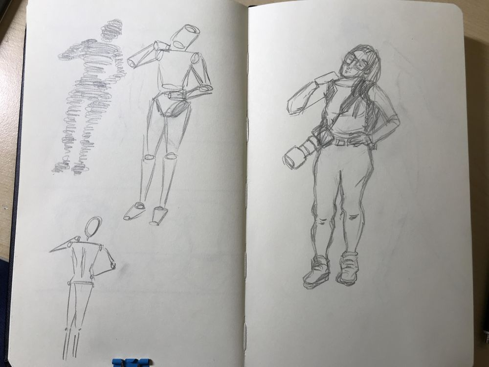 Female Body sketching - image 4 - student project