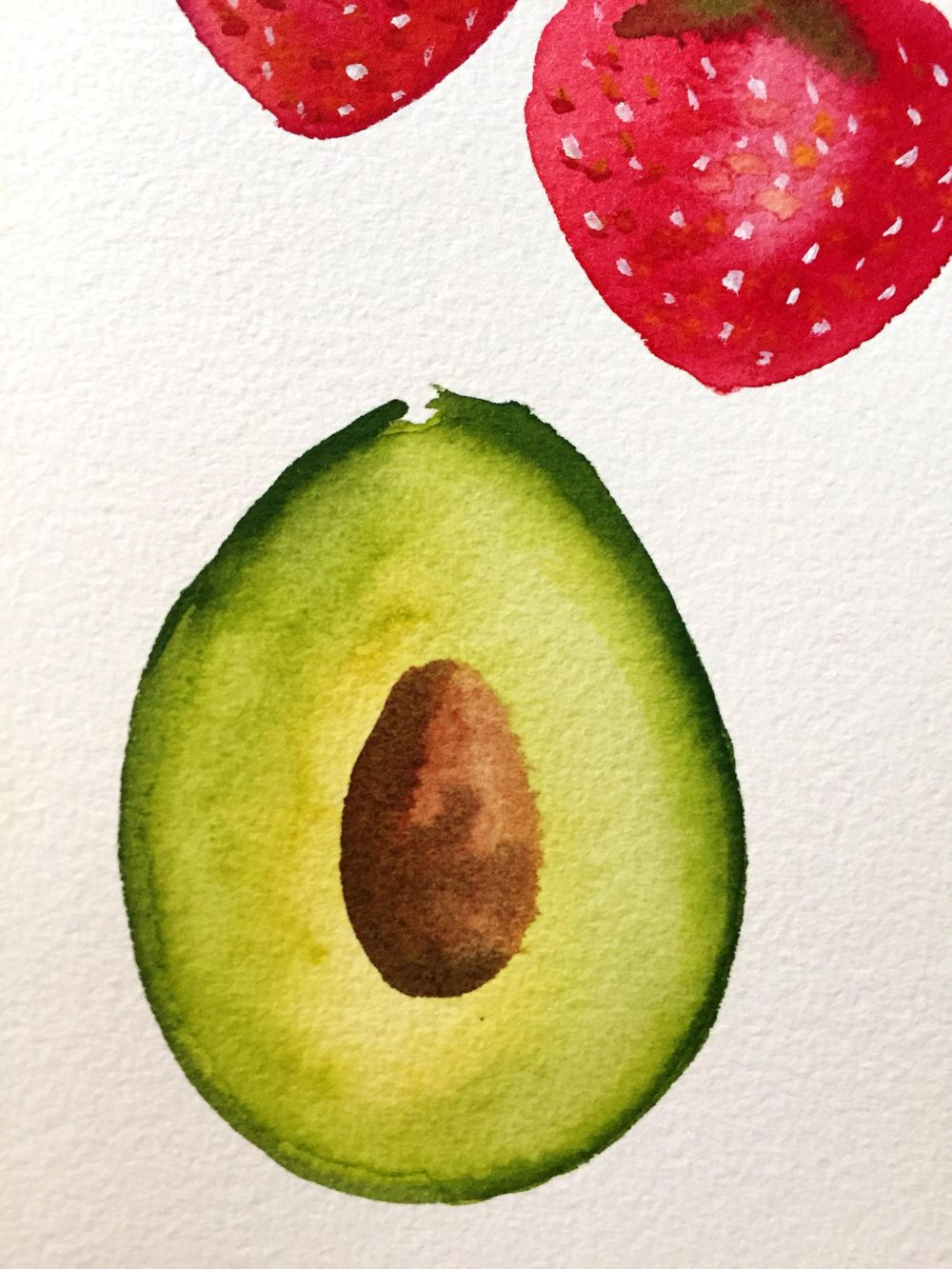 Loose watercolor fruits - image 1 - student project
