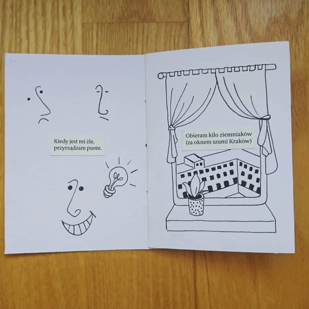 My first zine - illustrating my favourite Polish poem - image 2 - student project