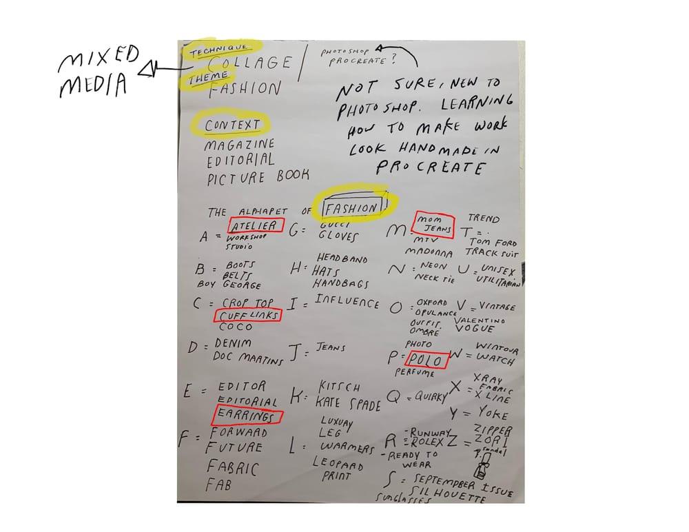 "Andrew Estrada ""The Alphabet of Fashion"" - image 5 - student project"