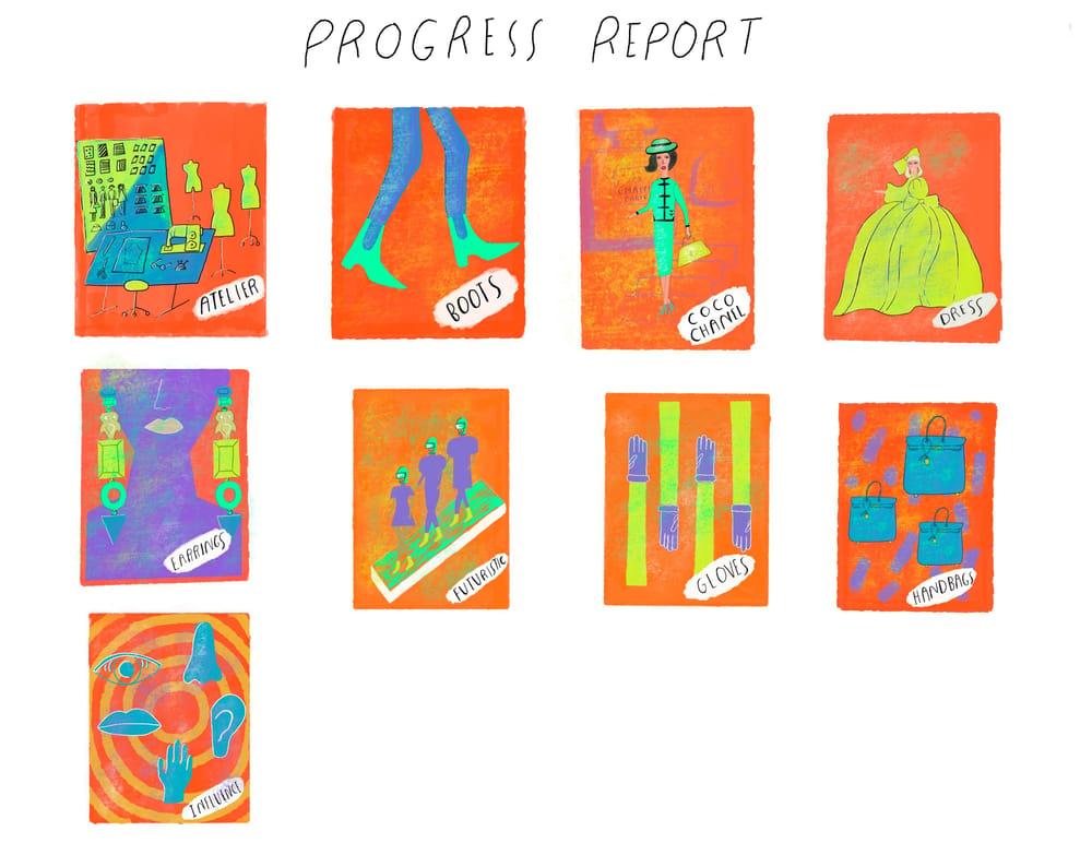 "Andrew Estrada ""The Alphabet of Fashion"" - image 1 - student project"