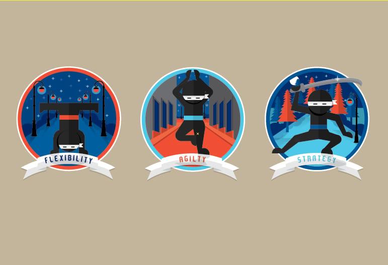 Ninja Badges - image 4 - student project