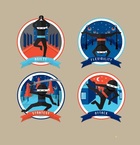 Ninja Badges - image 2 - student project