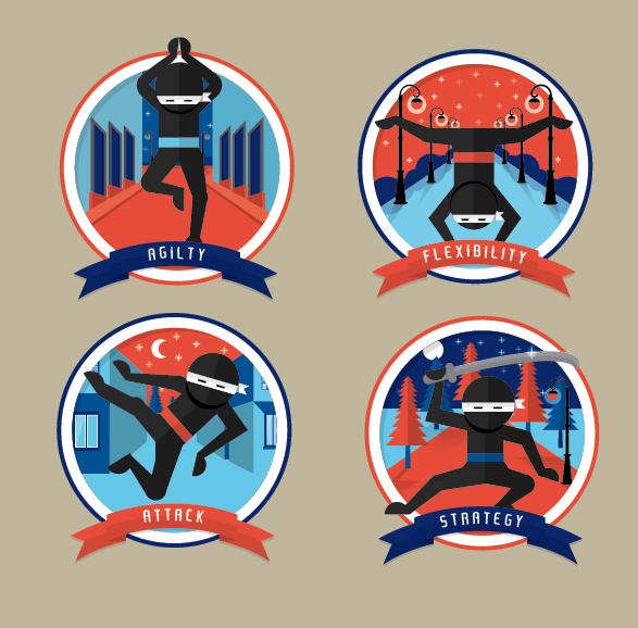 Ninja Badges - image 1 - student project