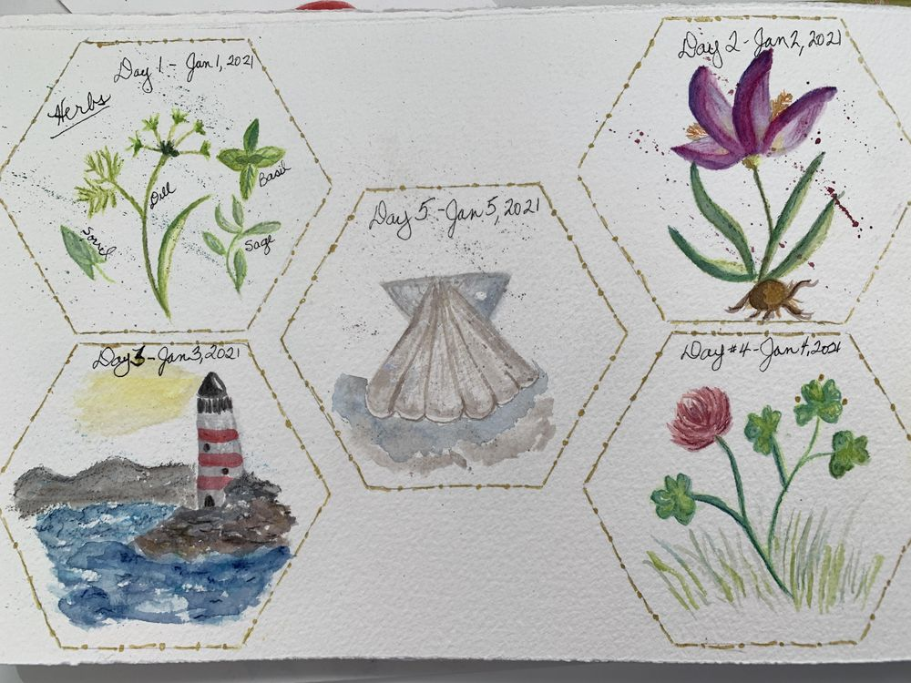 100 Day Watercolor Challenge - image 1 - student project