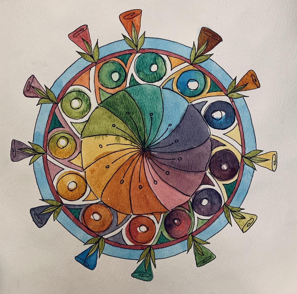 Flower Petal Mandalas - image 5 - student project