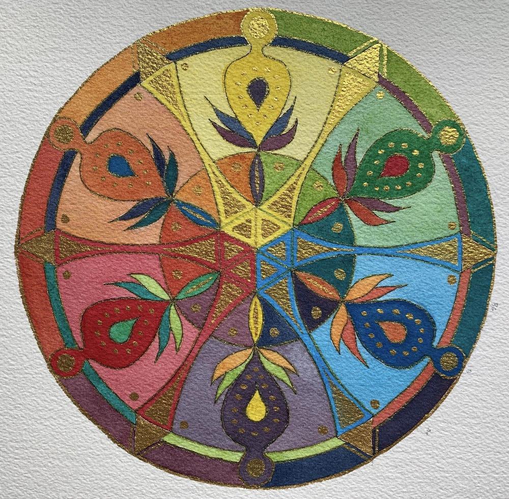 Flower Petal Mandalas - image 3 - student project