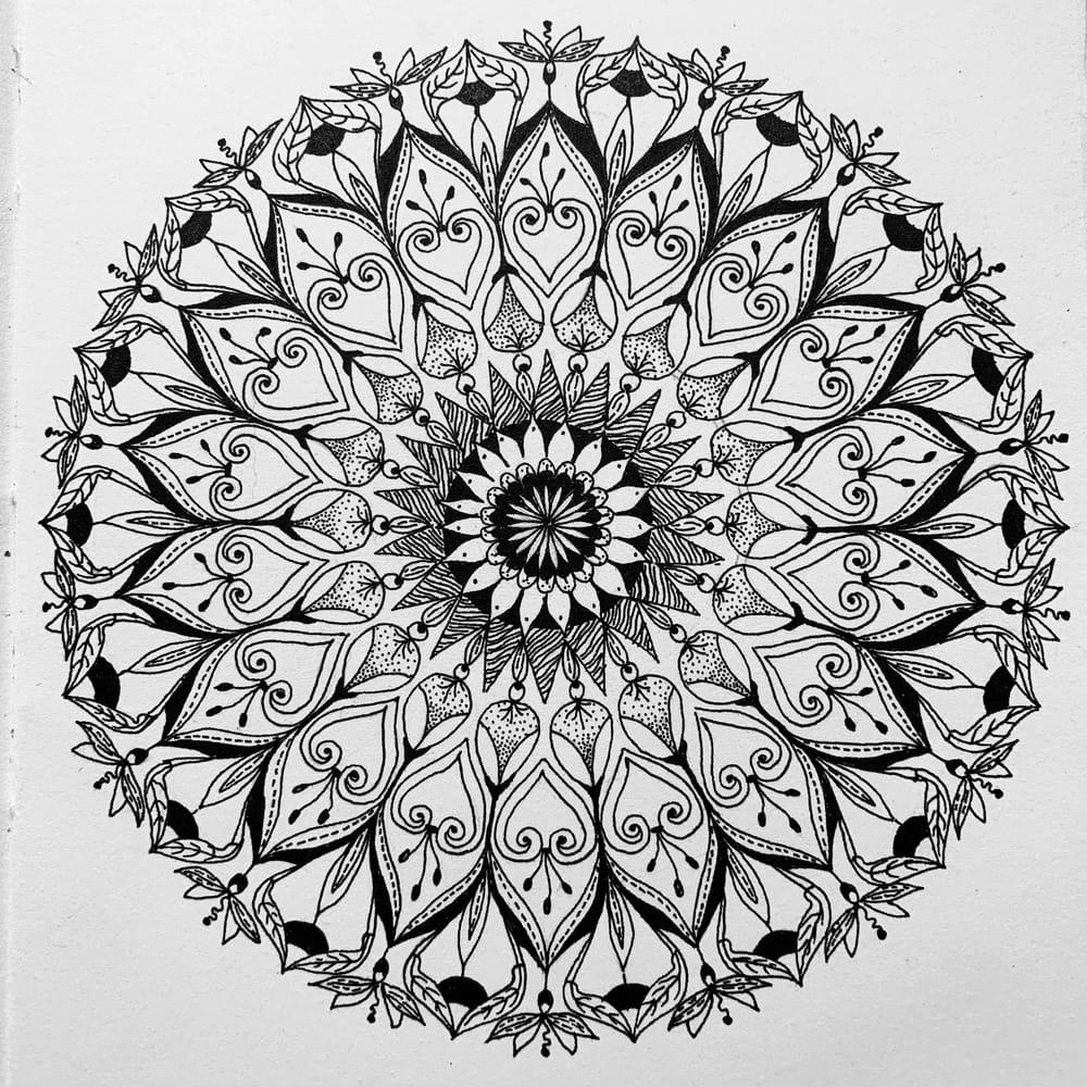 Botanical Mandala - image 2 - student project