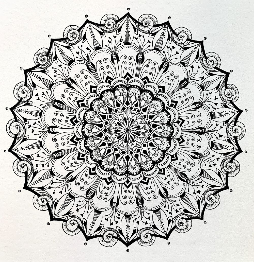 Botanical Mandala - image 1 - student project