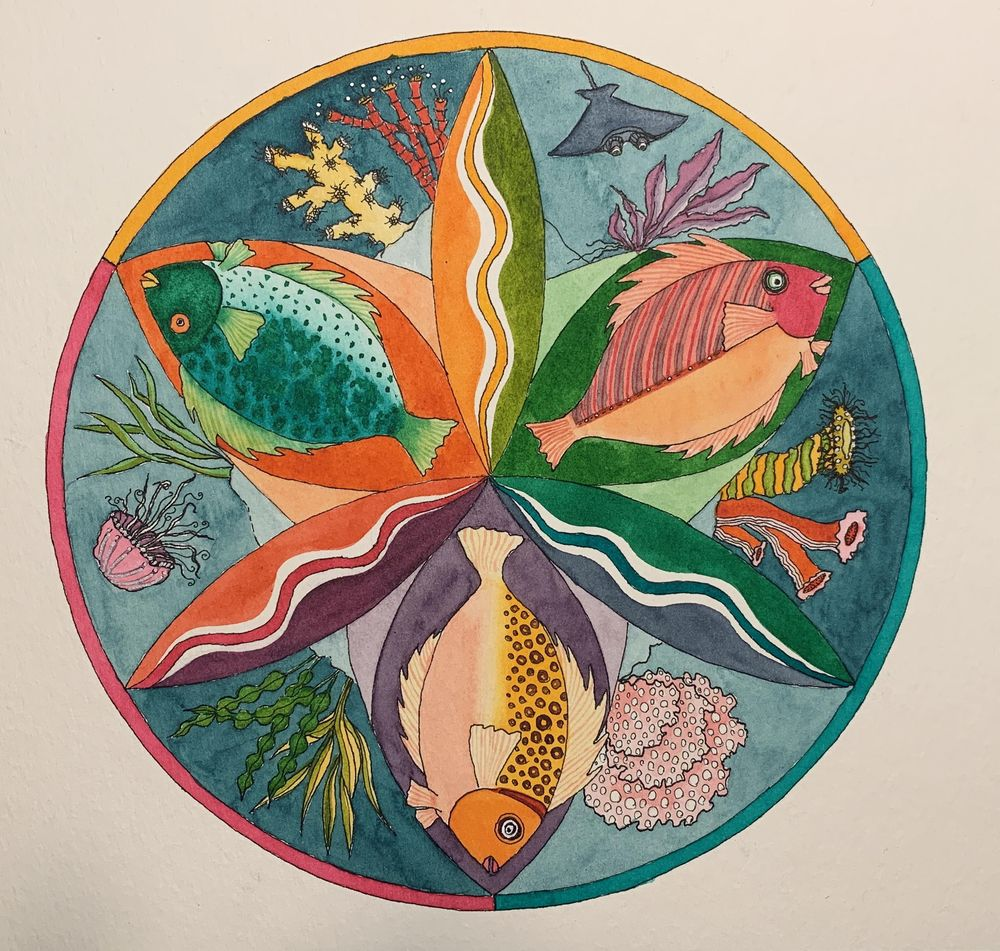 Flower Petal Mandalas - image 8 - student project