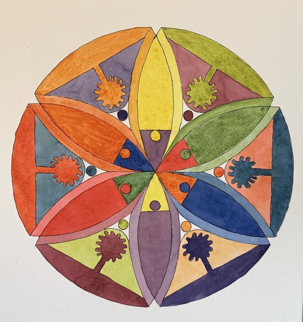 Flower Petal Mandalas - image 1 - student project
