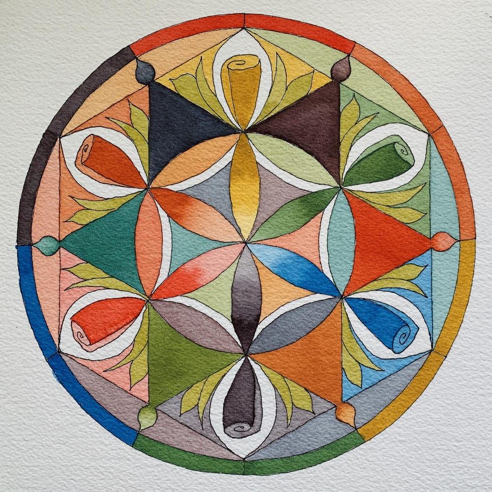 Flower Petal Mandalas - image 6 - student project