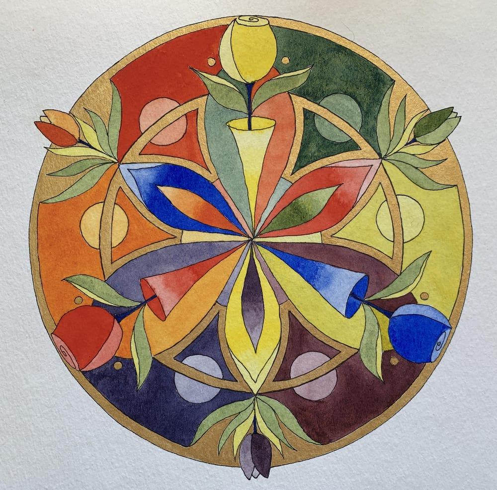 Flower Petal Mandalas - image 7 - student project