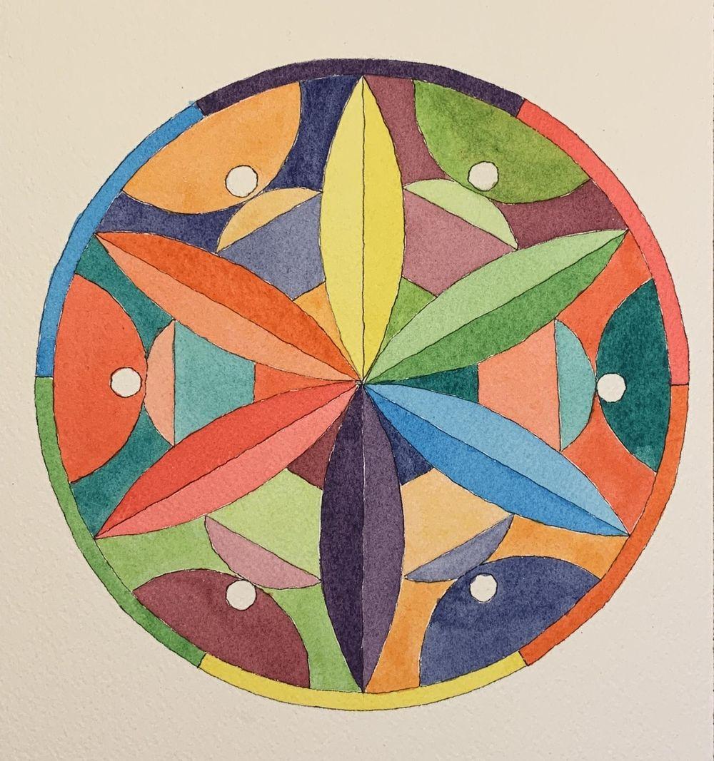 Flower Petal Mandalas - image 2 - student project