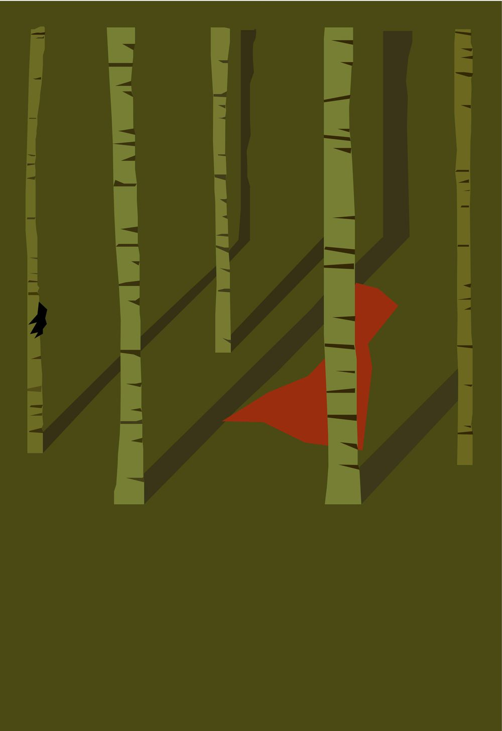 Minimalist Little Red Riding Hood - image 2 - student project