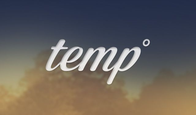 Tom Temp weather - image 1 - student project