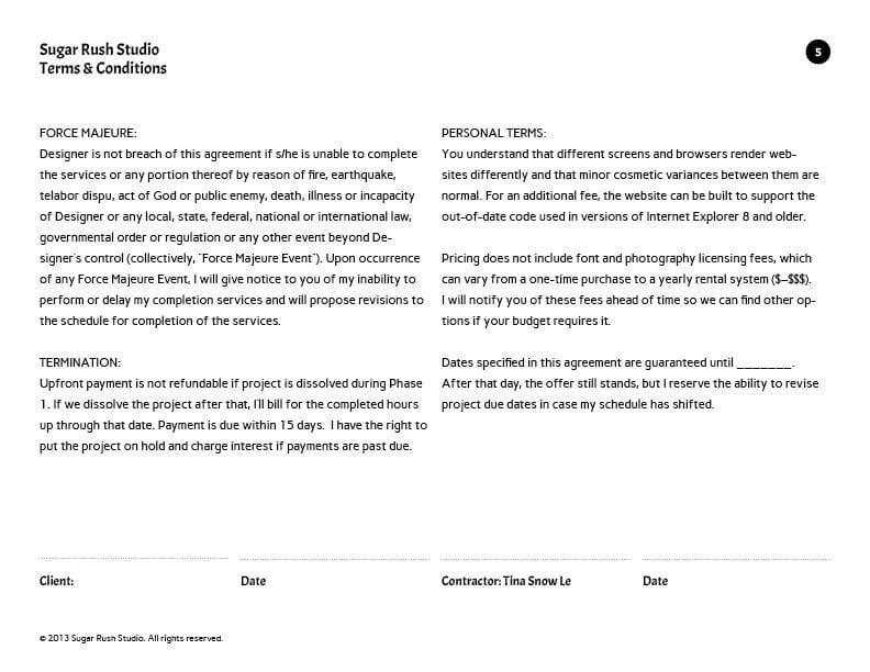 Project Agreement - Sugar Rush Studio - image 5 - student project