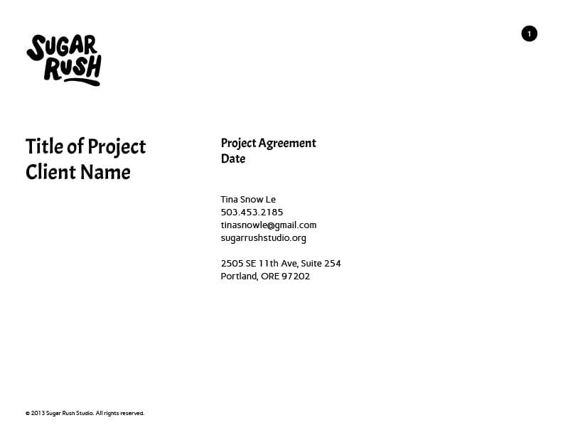Project Agreement - Sugar Rush Studio - image 1 - student project