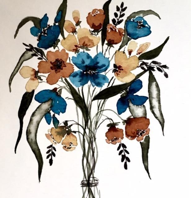 Floral bouquet class by Pizzlepaints - image 1 - student project