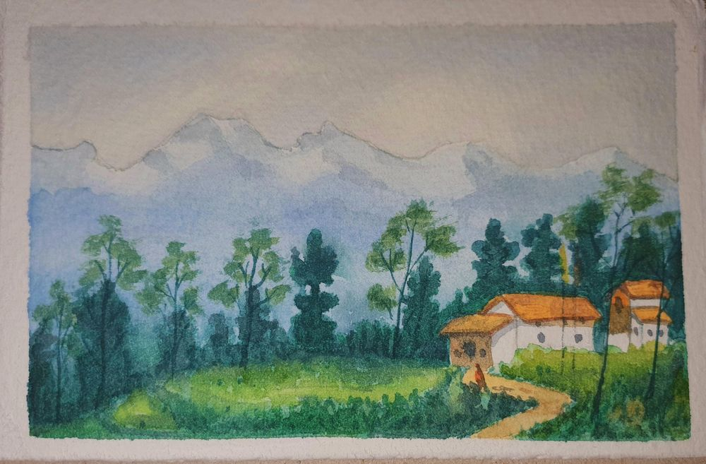 Mountain village - image 1 - student project
