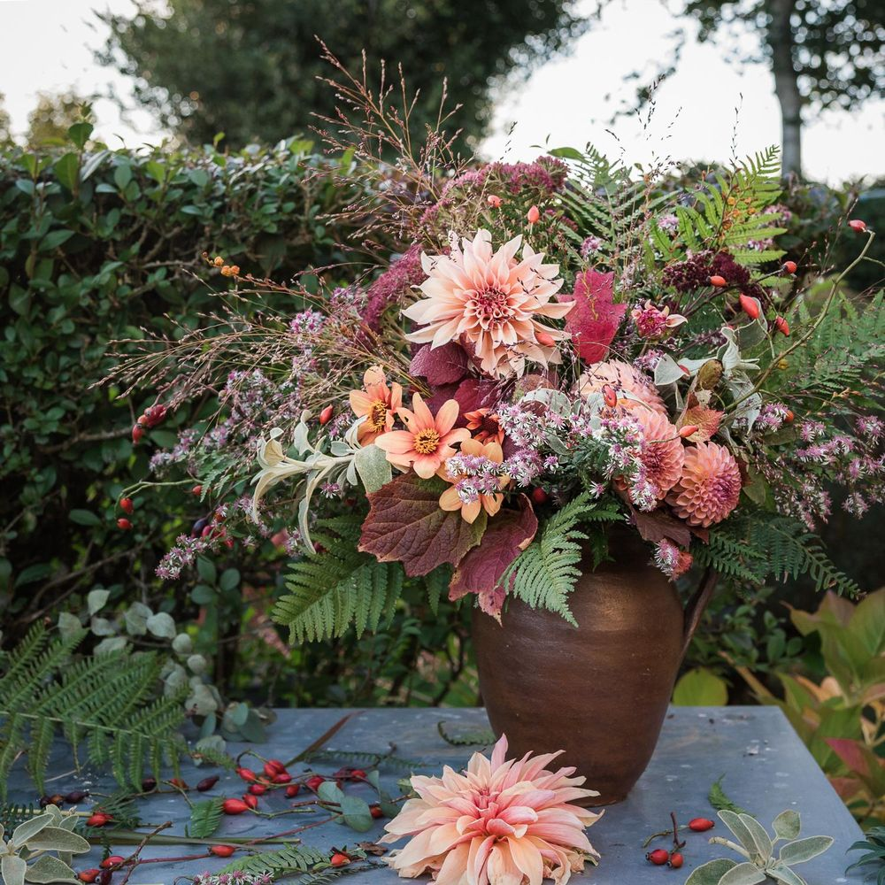 From Garden to Vase, celebrating my last Dahlias - image 1 - student project