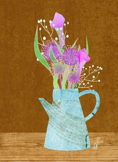 Textured Florals in a Pitcher - image 1 - student project