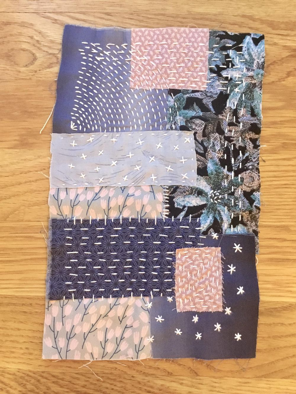 My First Boro Stitching Project - image 3 - student project