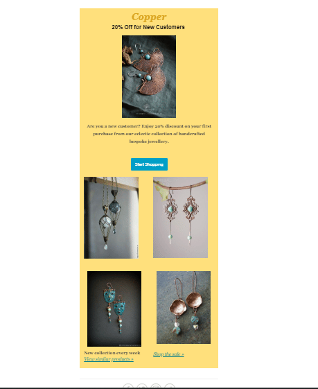 Email Template for a jewellery company - image 1 - student project