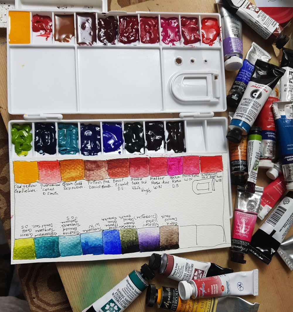 My watercoler Palette. - image 1 - student project