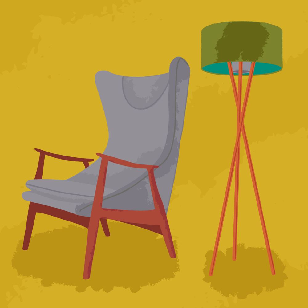 Chair with a lamp - image 1 - student project