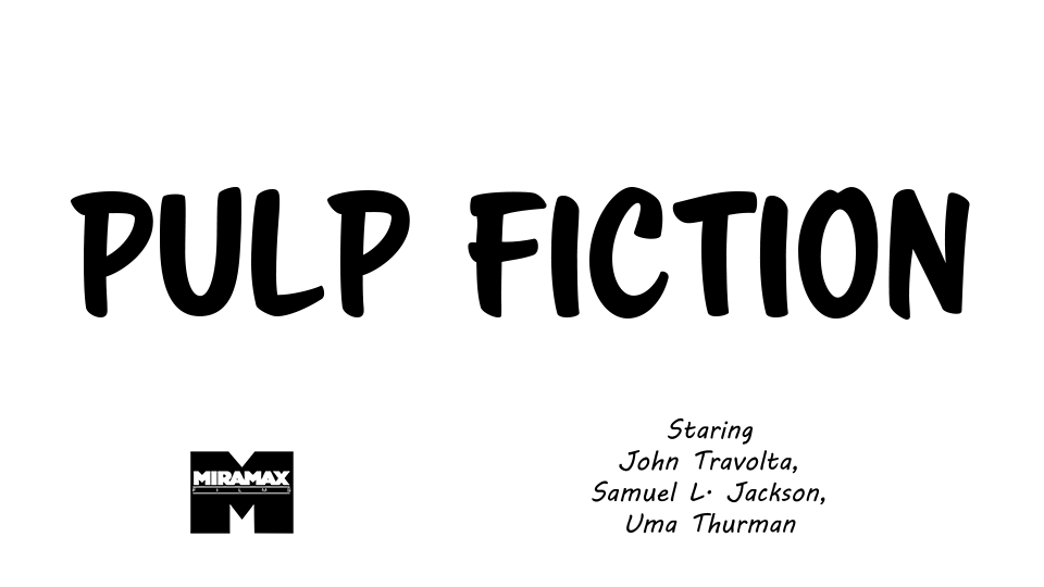 Pulp Fiction - image 1 - student project