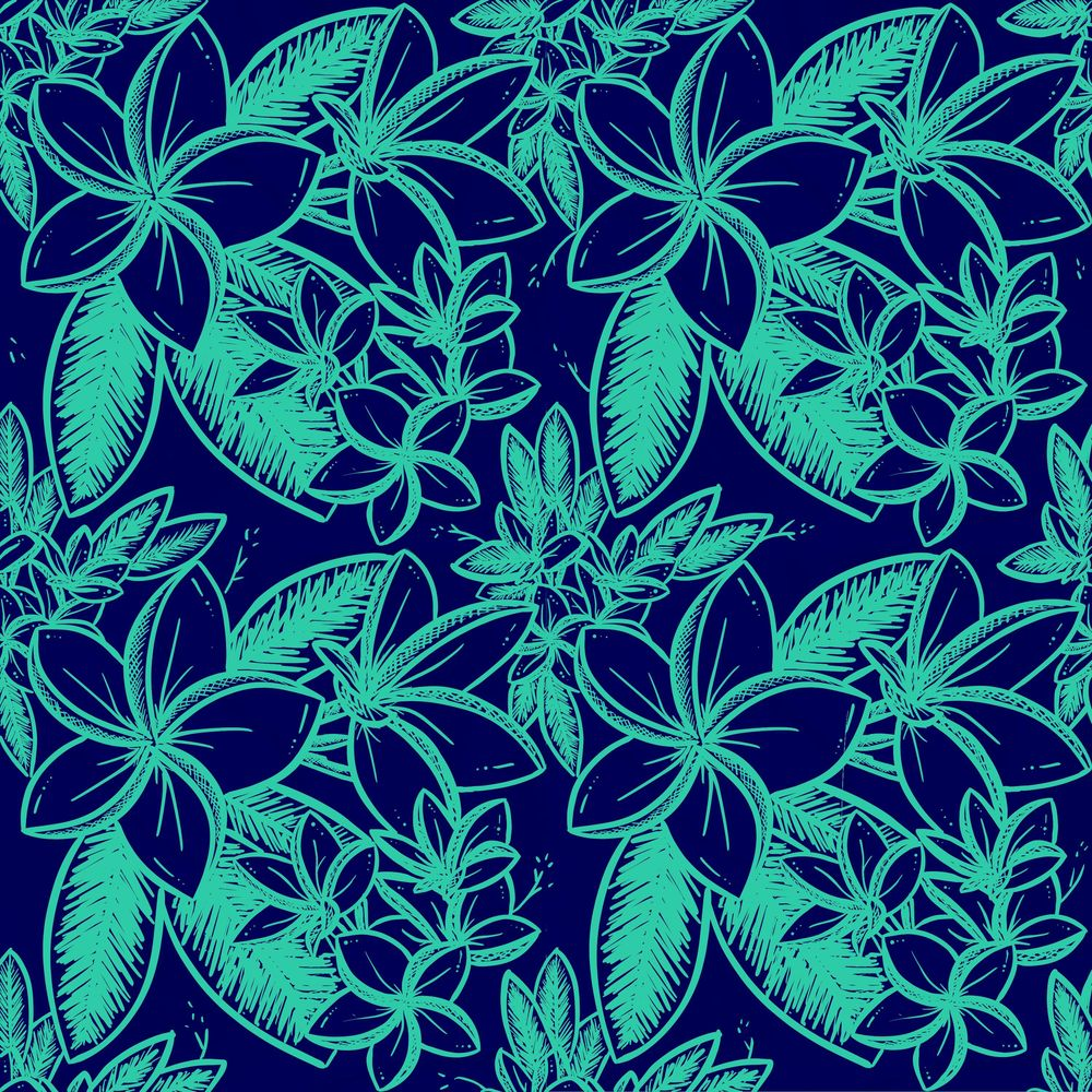 Plumeria - Floral Pattern #1 - image 1 - student project