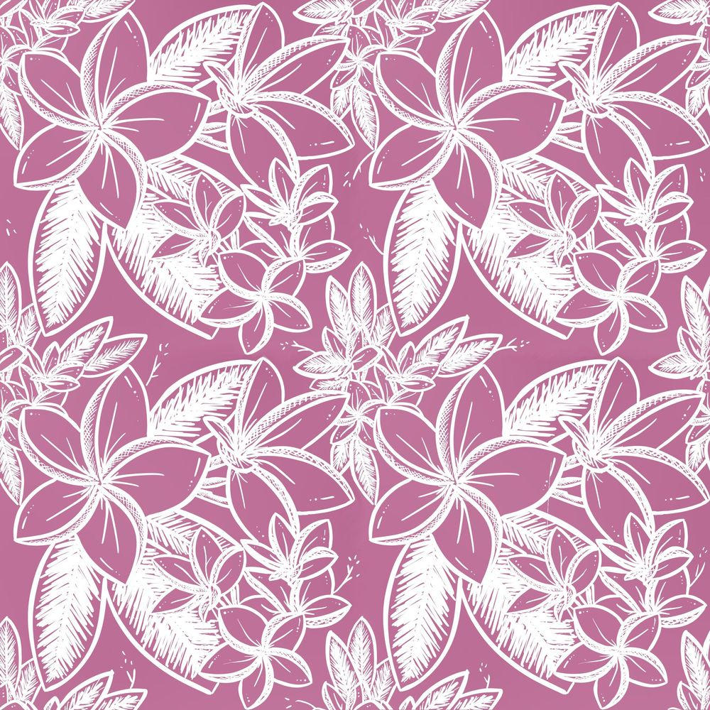 Plumeria - Floral Pattern #1 - image 2 - student project
