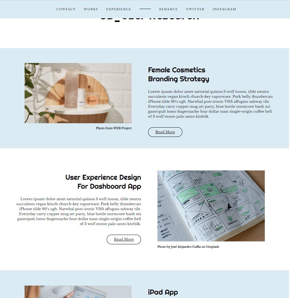 Portfolio- Demo Website Project - image 2 - student project