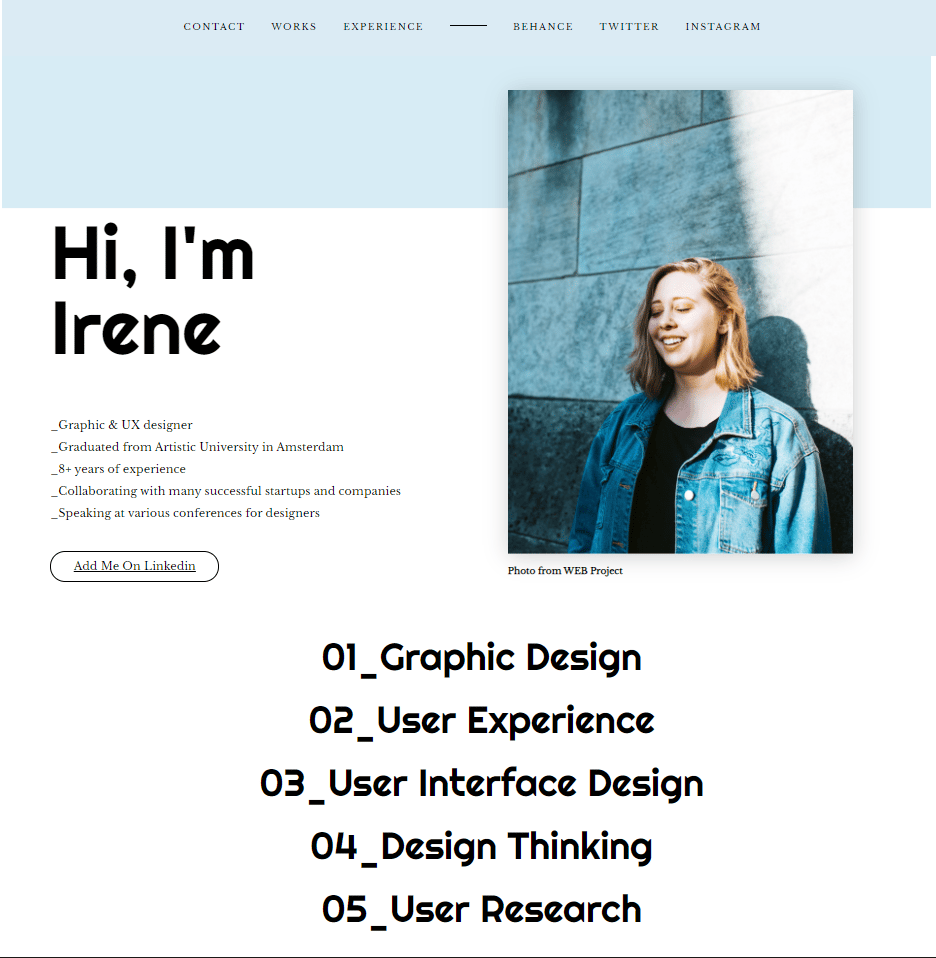 Portfolio- Demo Website Project - image 1 - student project