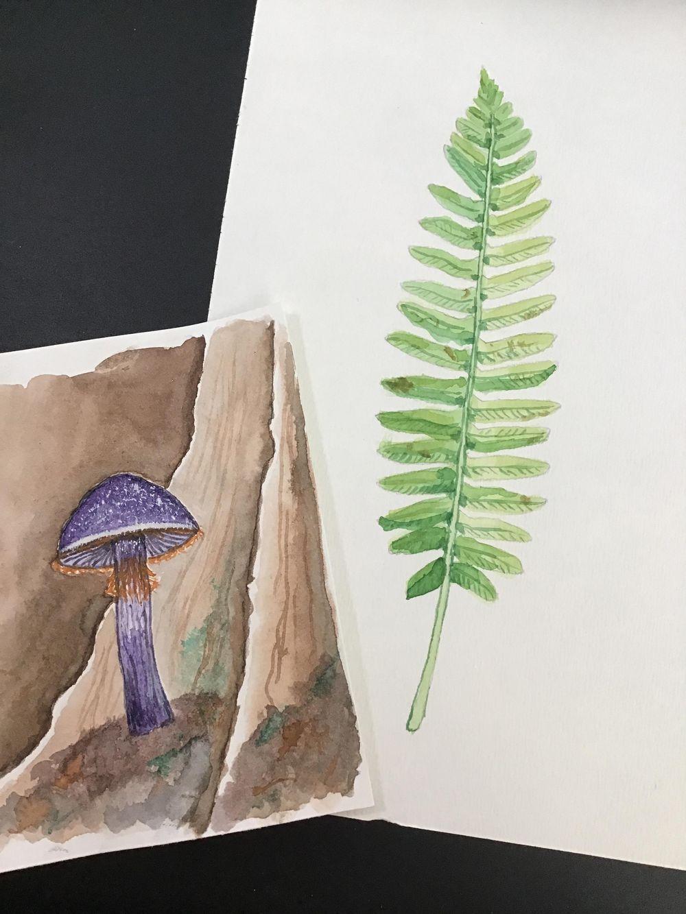Purple mushroom - image 1 - student project