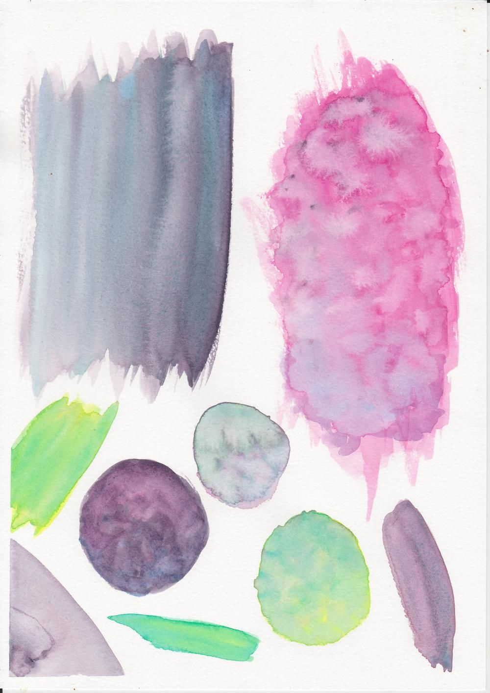 Watercolour Textures for use in branding - image 1 - student project