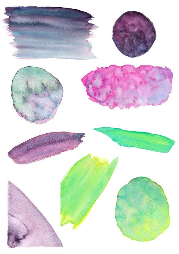 Watercolour Textures for use in branding - image 2 - student project